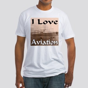 I Love Aviation Fitted T-Shirt